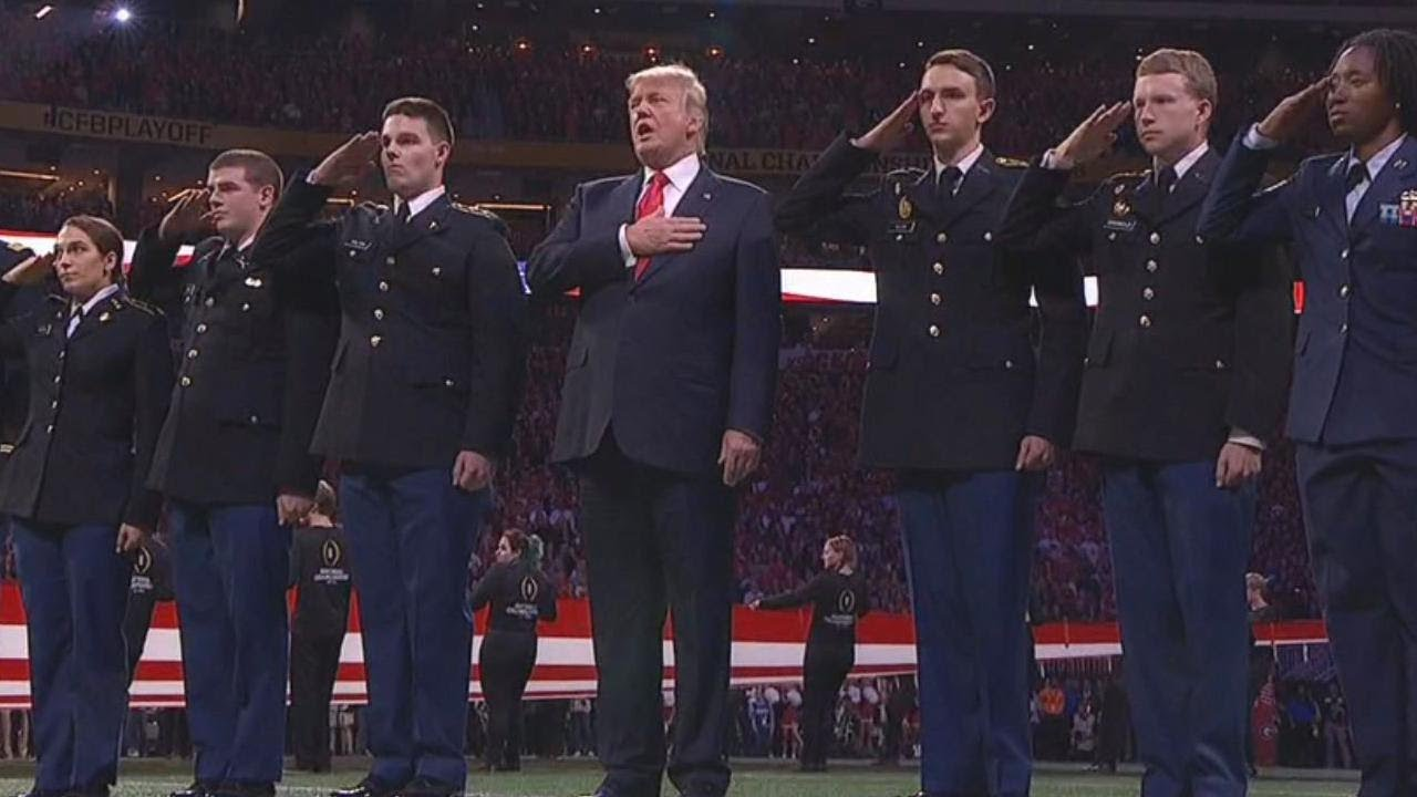President-Trump-Was-Welcomed-With-Cheers-at-College-Football-Championship
