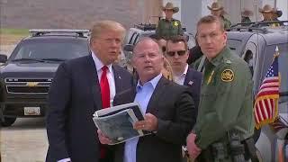 FULL-President-Trump-reviews-border-wall-prototypes-near-U.S.Mexico-Border.-March-13-2018