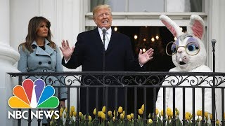 President-Donald-Trump-Hosts-White-House-Easter-Egg-Roll-And-Touts-Economy-And-Military