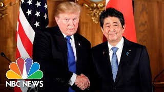 President-Donald-Trump-Holds-Bilateral-Meeting-With-Japans-Prime-Minister-Shinz-Abe