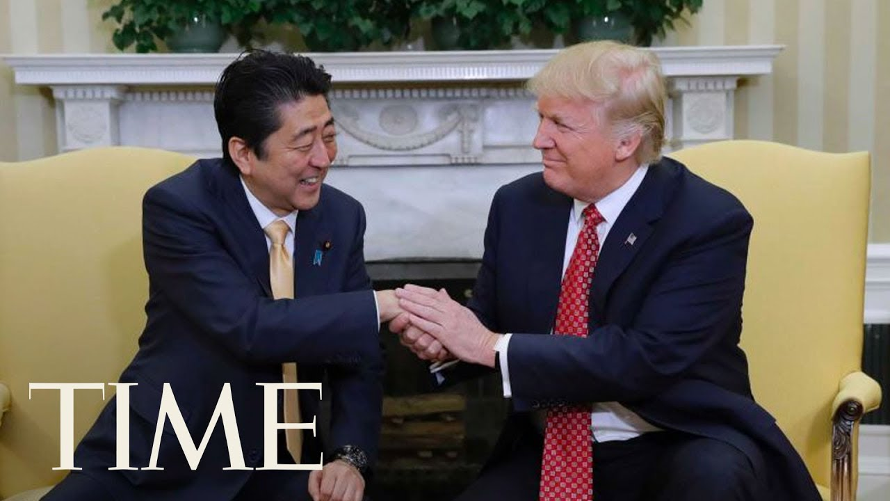 President-Trump-Hosts-Joint-Press-Conference-With-The-Prime-Minister-Of-Japan