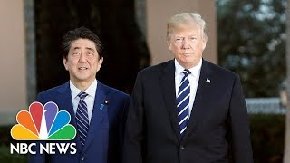 President-Donald-Trump-Hosts-Joint-Press-Conference-With-Japan-Prime-Minister-Shinz-Abe