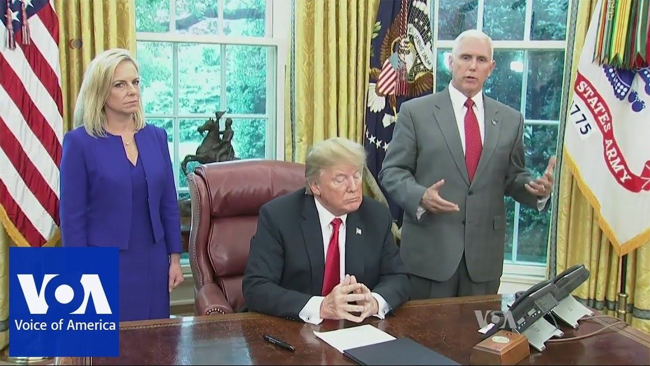 Trump-Signs-Order-to-End-Migrant-Family-Separation-on-US-Border