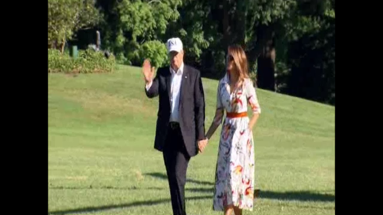 President-Trump-and-Melania-Land-in-Marine-One-at-White-House-July-8-2018