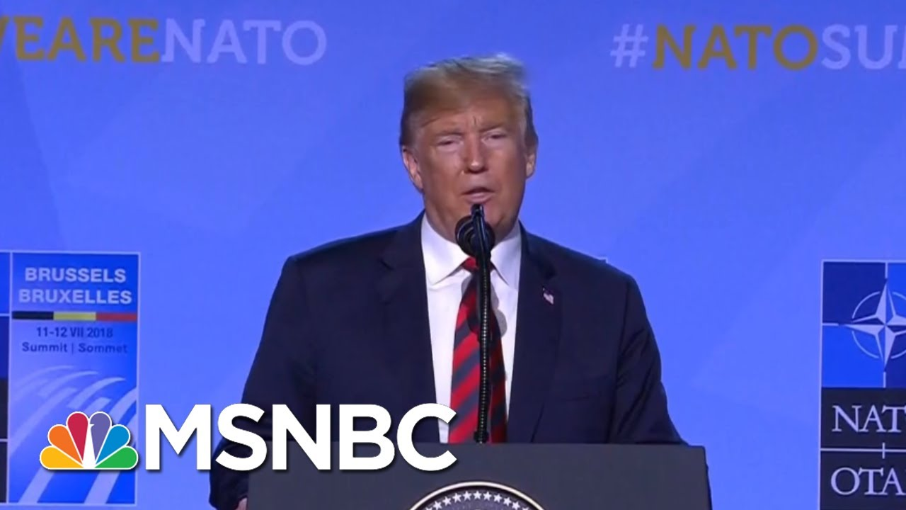 President-Donald-Trump-Unleashes-Lies-At-NATO-Press-Conference