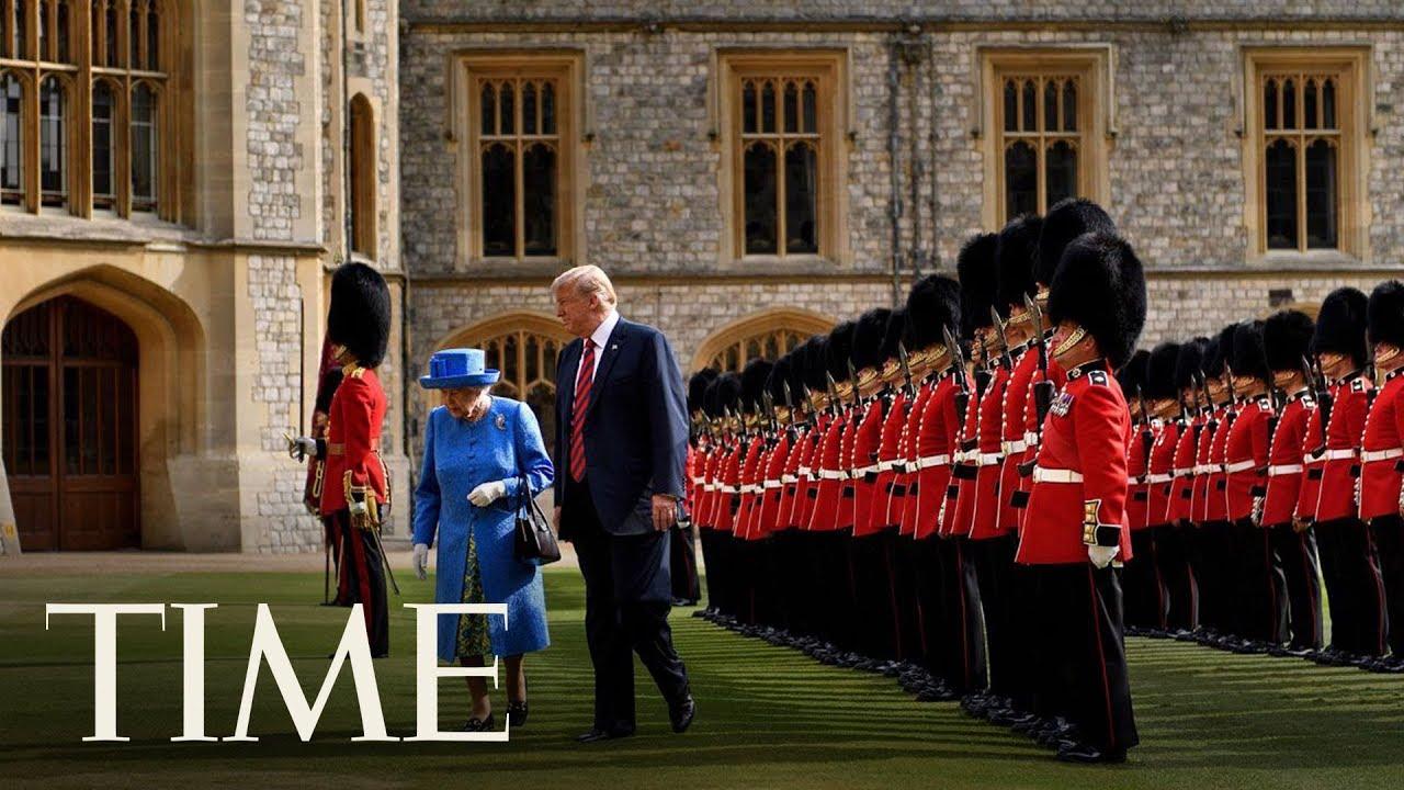 President-Donald-Trump-Meets-With-Queen-Elizabeth-At-Windsor-Castle