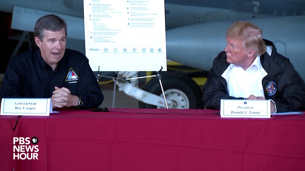 President-Trump-gives-a-briefing-in-North-Carolina-on-Hurricane-Florence