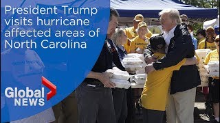 President-Trump-visits-hurricane-affected-areas-of-North-Carolina-after-Florence
