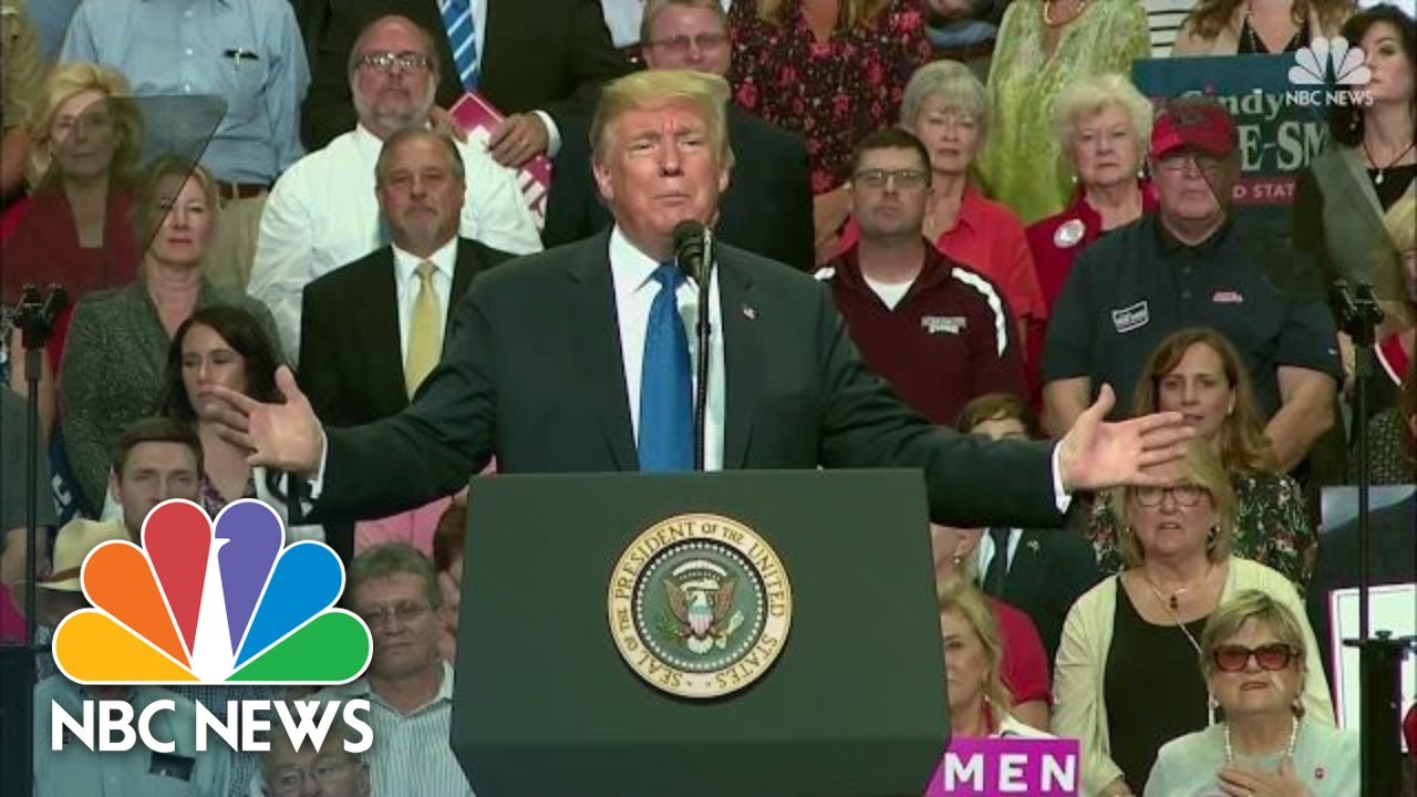 President-Donald-Trump-Speaks-At-A-Campaign-Style-Rally-In-Mississippi