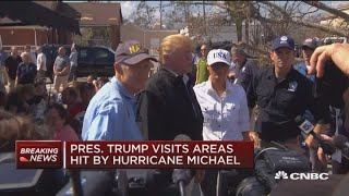 President-Trump-visist-areas-hit-by-Hurricane-Michael