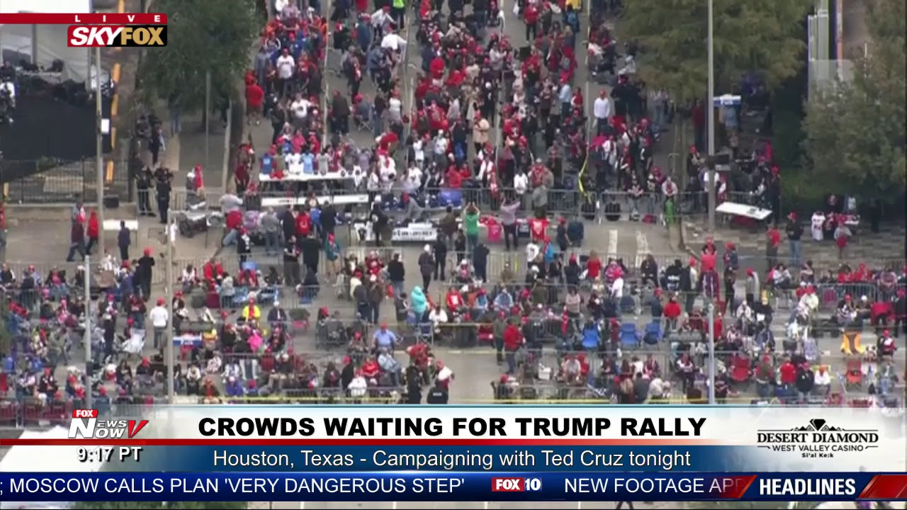 WATCH-Massive-Crowds-For-President-Trump-Ted-Cruz-Rally-HOURS-Before-Event-In-Houston