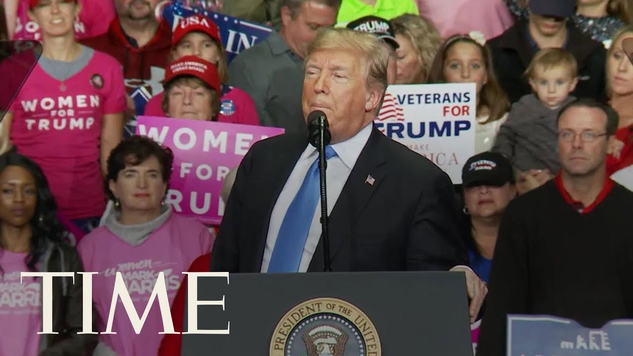 President-Trump-Lectures-The-Media-On-Bomb-Scare-Coverage-At-North-Carolina-Rally