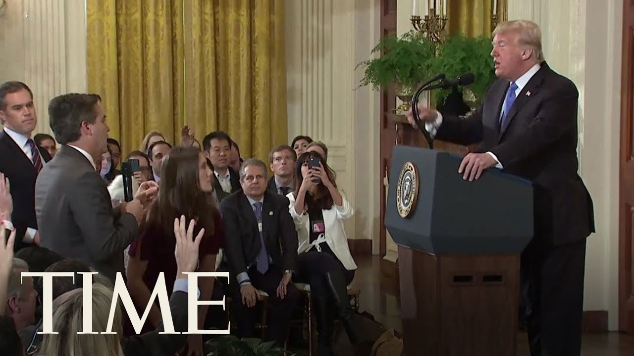 President-Trump-Clashes-With-CNNs-Jim-Acosta-Other-Journalists-At-Fiery-Press-Conference