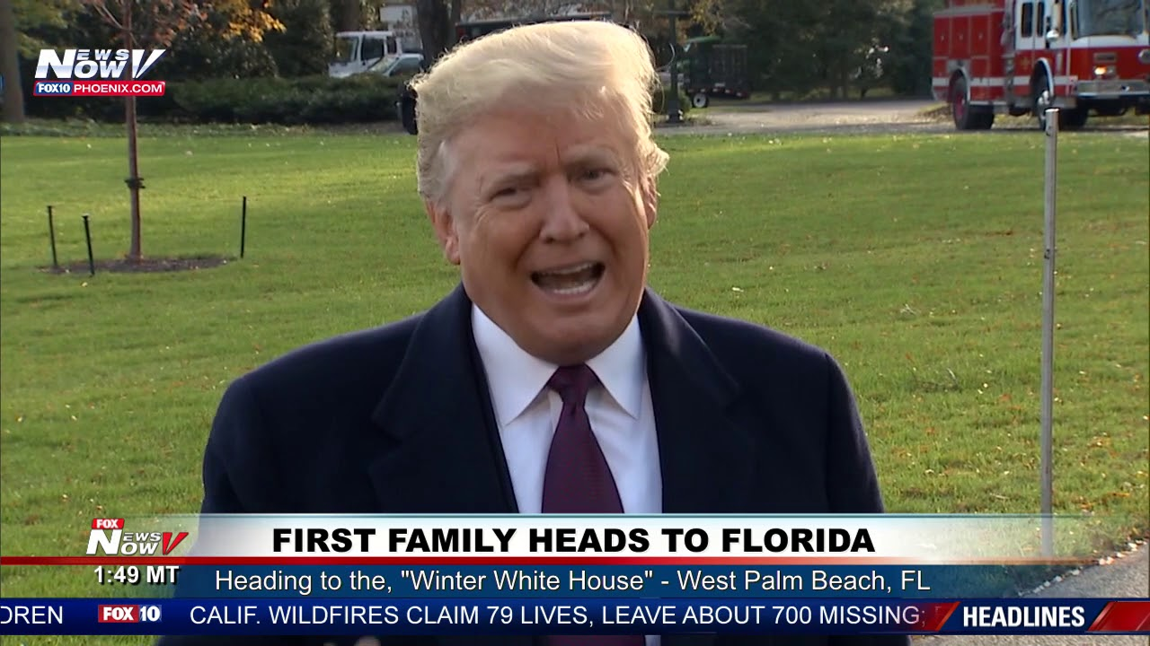 ALL-ACCESS-President-Trump-Speaks-To-The-Media-Before-Going-To-Mar-a-Lago-In-Florida