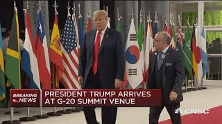 President-Trump-arrives-at-G-20-Summit