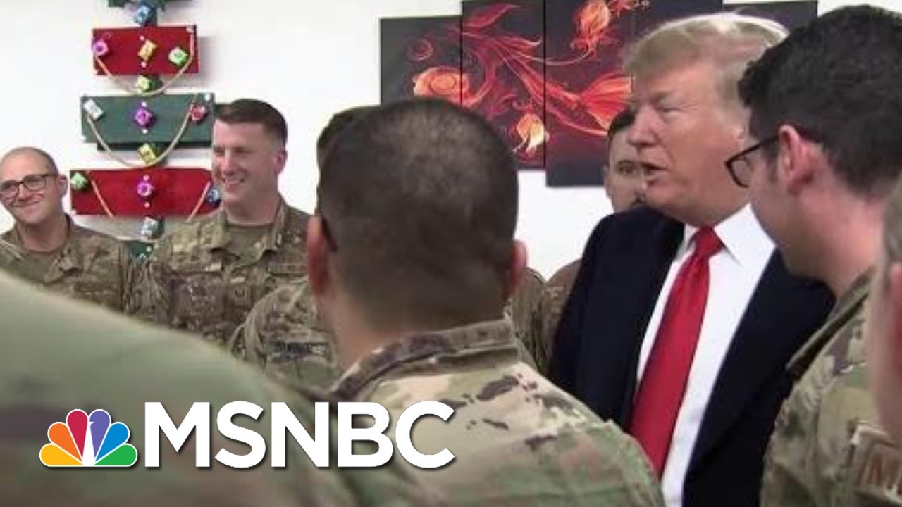President-Donald-Trump-Turns-Troop-Meeting-Into-Political-Event