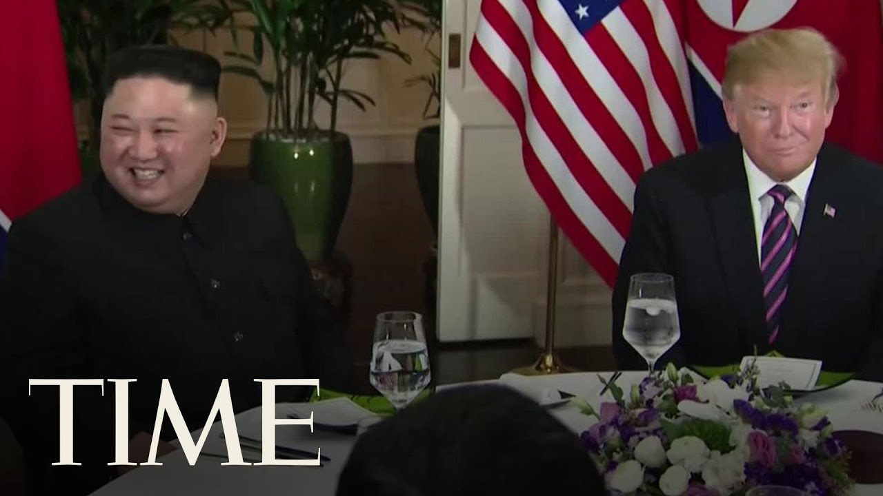 President-Trump-And-Kim-Jong-Un-Sit-Down-For-Dinner-Together