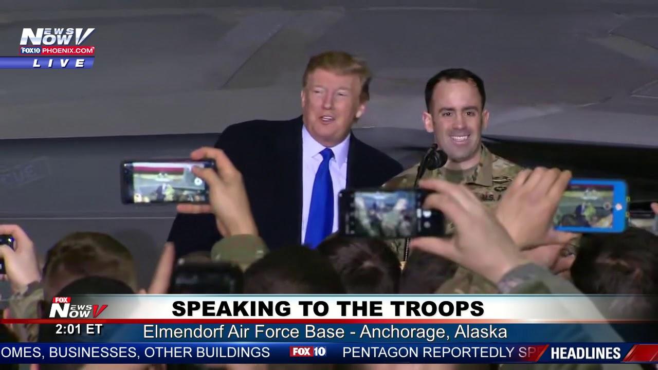SURPRISE-President-Trump-Surprises-The-Troops-In-Alaska