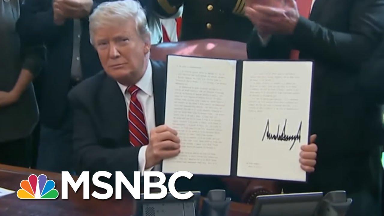 President-Donald-Trump-Basks-In-Praise-Before-Signing-Veto