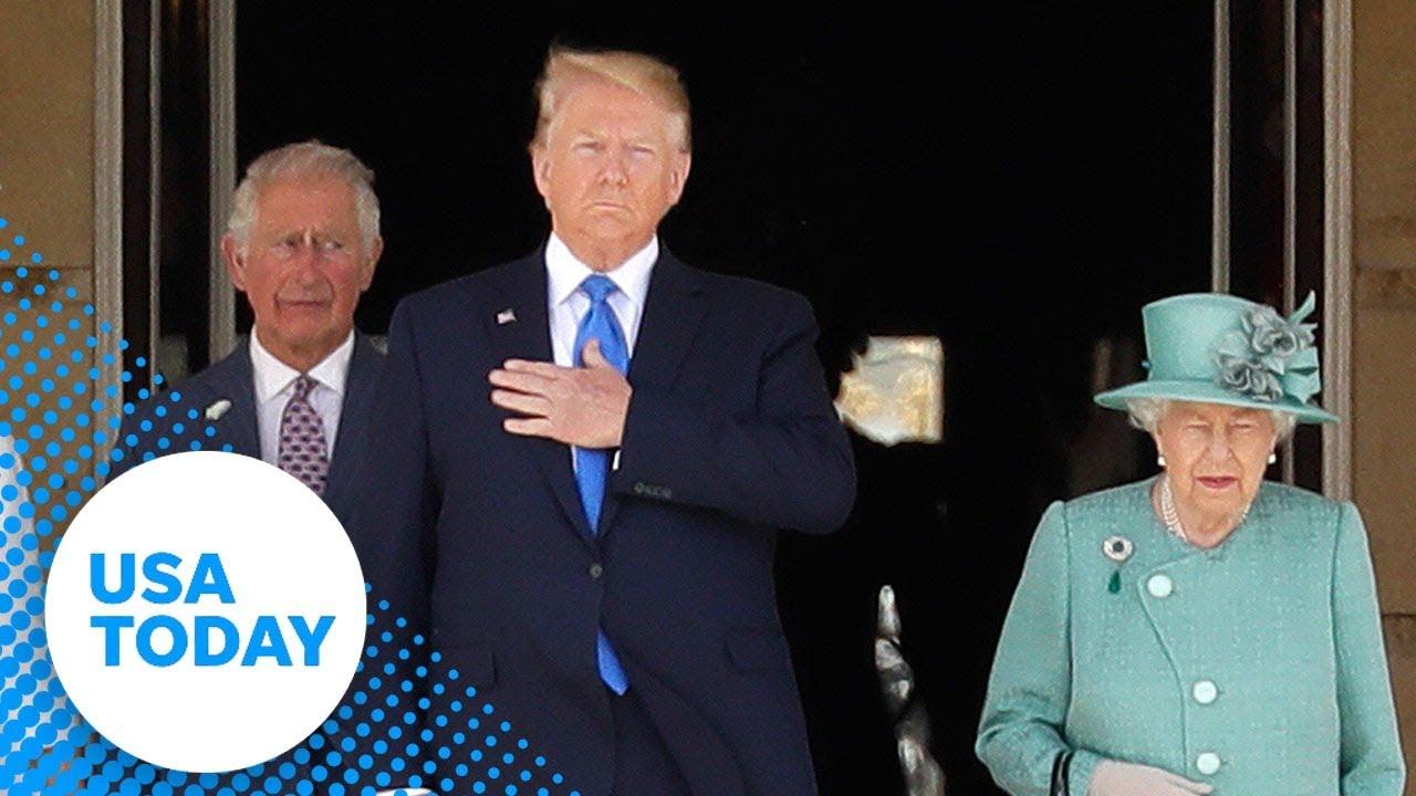 Queen-Elizabeth-II-welcomes-President-Donald-Trump-to-Buckingham-Palace