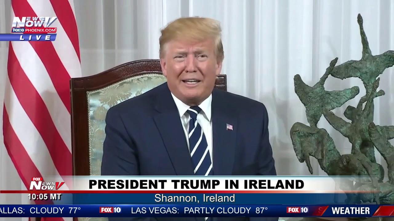 TRUMP-IN-IRELAND-President-Trump-Meets-With-Irish-Prime-Minister