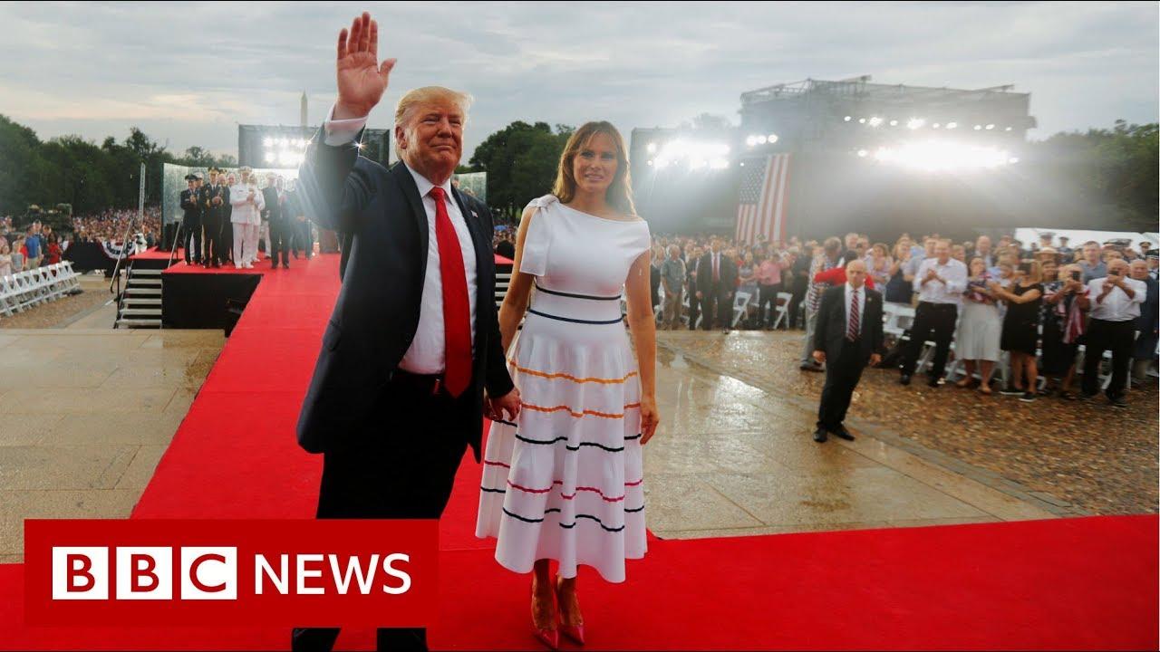 Trump-leads-Salute-to-America-celebration-BBC-News