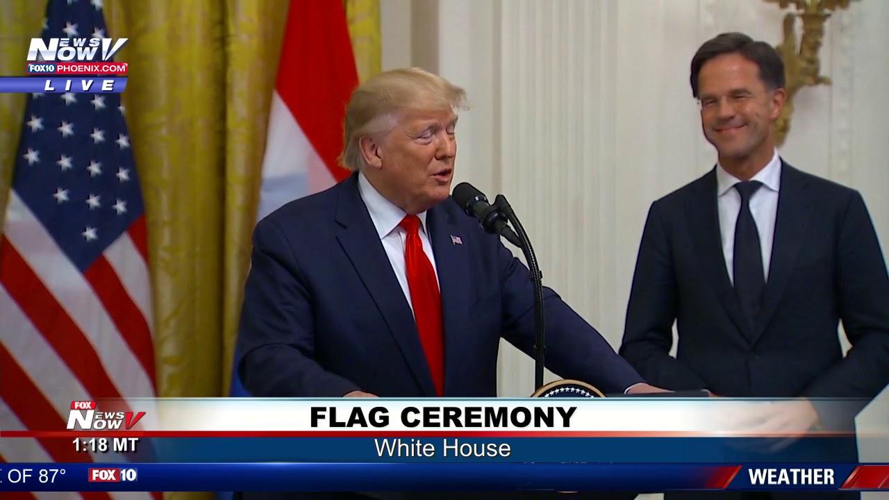 FULL-FLAG-CEREMONY-President-Trump-Dutch-Prime-Minister-Mark-Rutte-at-the-White-House