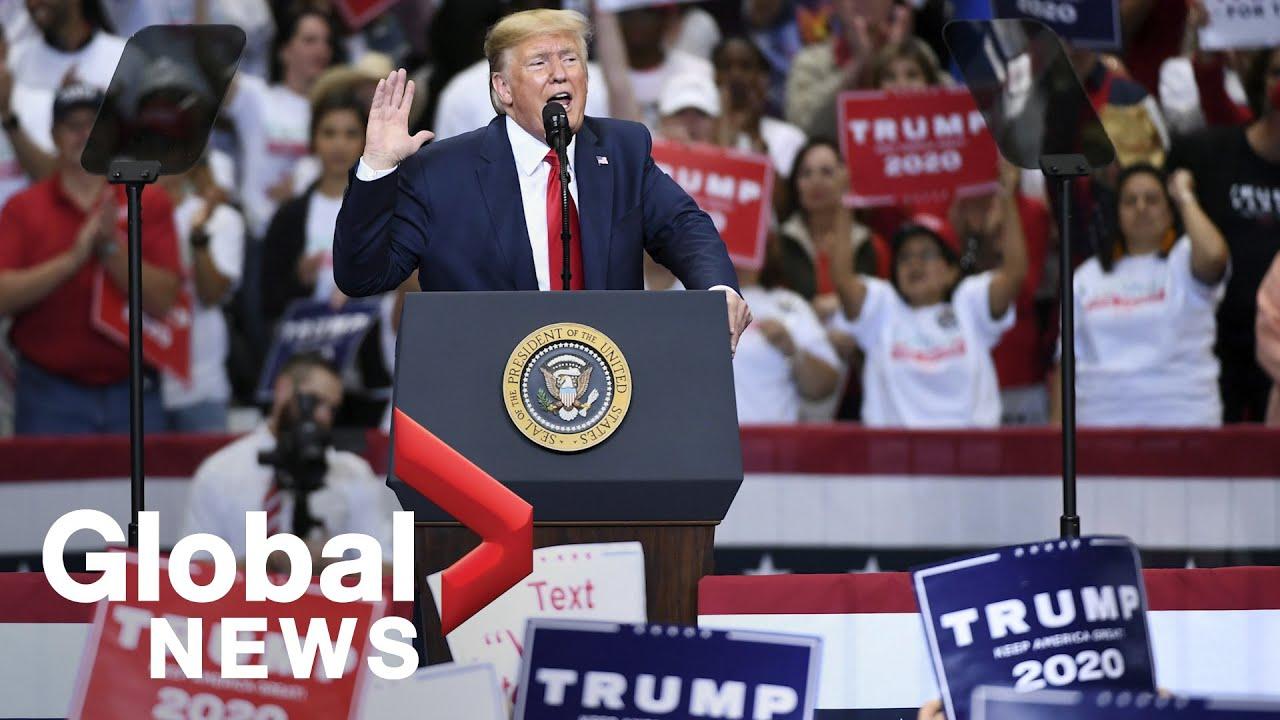U.S.-President-Trump-holds-rally-in-Dallas-Texas