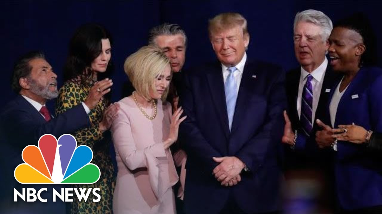 Christian-Leaders-Pray-Over-Trump-During-Launch-Of-Evangelicals-For-Trump-Coalition