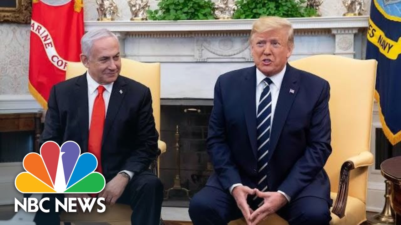 President-Donald-Trump-Previews-Mideast-Peace-Plan-As-Netanyahu-Arrives-At-White-House