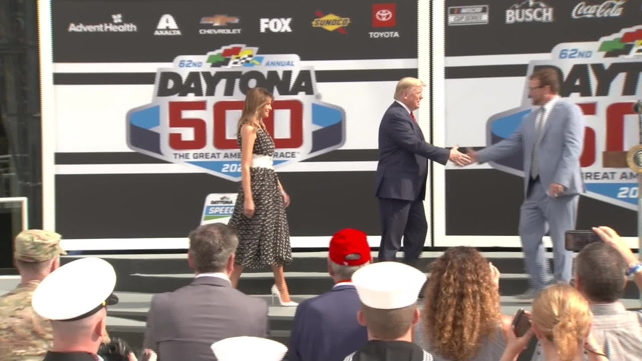 President-Trump-spoke-before-the-Daytona-500-on-Sunday
