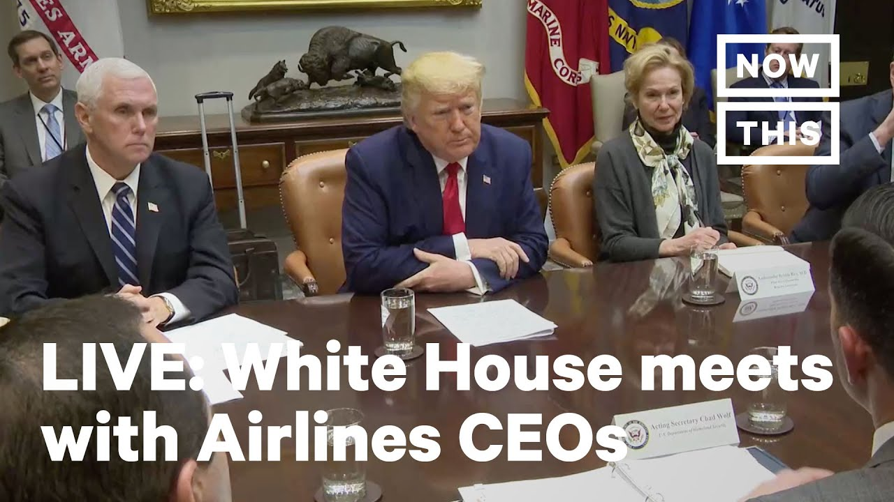 President-Trump-Meets-with-Airline-Executives-Regarding-Coronavirus