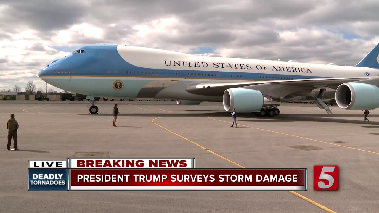 President-Trump-arrives-in-Middle-Tennessee-to-survey-tornado-damage
