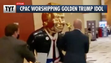 CPAC-Reacts-to-Gold-Trump-Statue