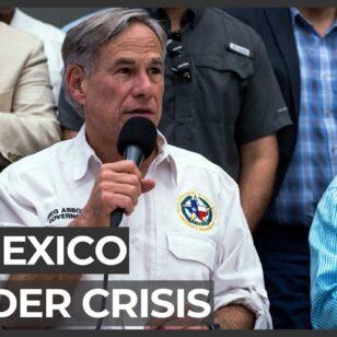 Texas-governor-blames-Biden-for-migrant-surge-at-border