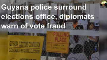 Guyana-police-surround-elections-office