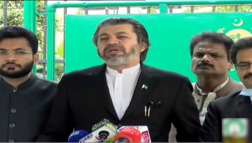 Ali-Muhammad-Khan-Media-Talk-Outside-Election-Commission-Sep-2020